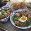 幸運な病のレシピ( 2088 )昼:ラーメン大好き(青梗菜・タケノコ・モヤシ・の炒めトロミ餡)、鶏唐揚、ゆで卵のトッピング