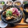 【一汁六菜】1日20食限定!淡路牛ハンバーグの富士溶岩焼きが食べれる!地上100mの景色を一望できる和食dining