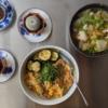 5/24(日)アジフライ卵とじ丼、豚まん、ラーメン