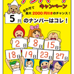 誕生日似顔絵がお得に!2017年5月のハッピーナンバー7発表!