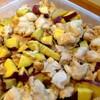 鶏肉とさつま芋の豆乳煮