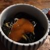 金時草と第2蜜月(3) 醤油漬け黄身のせ