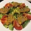 沖縄フェアメニューのマグロのフリット サラダ仕立て を御膳セットにして、いただきました。 at タイムズ_スパ_レスタ_レストラン