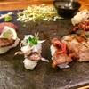 若者に人気の肉寿司を堪能するちょんまげ  赤坂