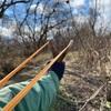 鹿の角でスリングショットを作る