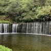 白糸の滝 軽井沢 幅70mの水のカーテン 日本夜景遺産 ライトアップがきれい! 目の前にバス停あり