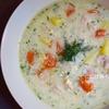 牛乳で作る「鶏肉とディルのクリームスープ」レシピ。