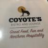 立地がとても良い!イエローナイフのホテル群から近いコヨーテでバイソンステーキを楽しむ