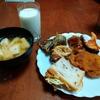 幸運な病のレシピ( 2284 )朝:アジフライ、イカ天、鳥手羽フライ、味噌汁