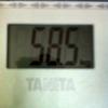 7/1 8日目 朝 58.5kg