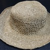 【手編み】エコアンダリアで帽子、完成