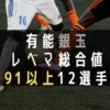 【有能銀玉】レベマ総合値91以上12選手