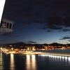 【スペイン・マラガ港】マラガ砦が見える港