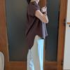 ゴージャスなドレープを着る大人のブラウス|スキッパー襟でネックラインをすっきりと