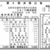 株式会社VAIO 第6期決算公告