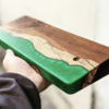 hatacrafts.studio wood and resin case - キーボードケース -