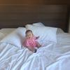 <5ヶ月>風邪引いたりベッドから落ちたりトラブル続き。よく笑いよく叫ぶ元気な娘に勇気づけられる。