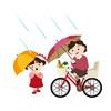 雨、自転車の傘さし運転ダメ!おすすめ6選、快適サイクリング。