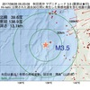 2017年08月26日 05時23分 秋田県沖でM3.5の地震