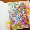 メイキング】100均マーカーと色鉛筆で塗ってみました☆SSイラストブックより