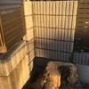 極寒だったブロック門柱積み 2日目