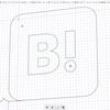 はてなブックマークのアイコンを3Dプリンタで作る