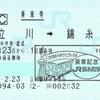 錦糸町駅の東京スカイツリー乗車記念印