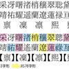 人名用漢字を旧字体にする+ヒゲを生やす