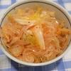 白菜の浅漬けとキムチとマロニーで汁なし冷麺擬き