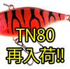 【ジャッカル】毎回即完の人気バイブレーション「TN80」通販サイト再入荷!