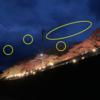 夜間の撮影で写った謎の光点を修正してみた。