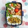 #703 豚細切れ肉とインゲン他野菜炒め弁当