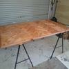 DIY ダイニングテーブル(ヘリンボーン)1/2 天板編