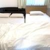 寝ている部屋は大切♪無印良品でベッドのカバー類を購入。白一色で寝室に統一感を