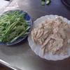 幸運な病のレシピ( 2103 )夜:棒々鶏(たっぷりキュウリ)、ナスのゴロゴロ汁