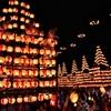 日本の誇る提灯が夜空を焦がす日本三大提灯祭