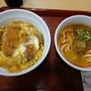 カツ丼(並)+カレー担々うどん(小)。なか卯