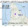 2017年08月13日 03時34分 上川地方北部でM3.0の地震