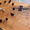 使えそうにない無垢板で壁掛け時計を作ってみた