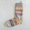 秋色ソックヤーンで編む靴下(3) 片足完成