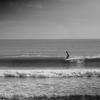 今日の寒中サーフィン