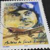 マクロレンズで写してみたサン=テグジュペリ仏切手