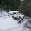 真山神社で積雪パラダイスが起こっていました