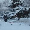 雪かきでクタクタ…