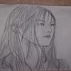 ネットで拾った小西真奈美さん似の女性を描いてみた。