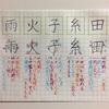 田 糸 子 火 雨 のきれいな書き方。