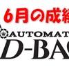 AUTO D-BAC(オートD-BAC)6月の成績です。