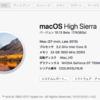 "macos high sierra""macOS1013Beta""をインストールした。"