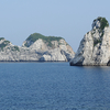 純白の岬と透き通った海の白崎海岸
