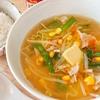 豚ともやしの味噌バタースープ